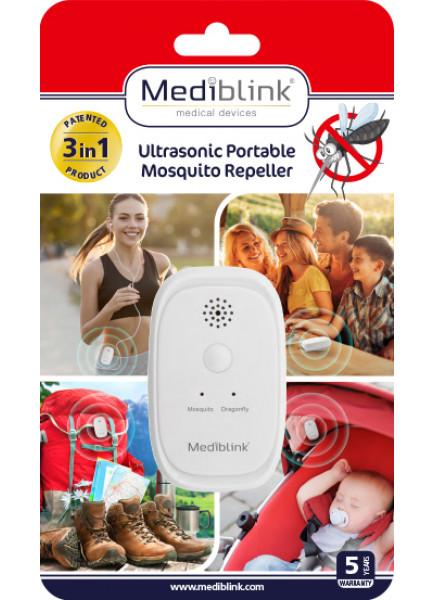 MEDIBLINK Ultrasonic Portable Mosquito Repeller M001